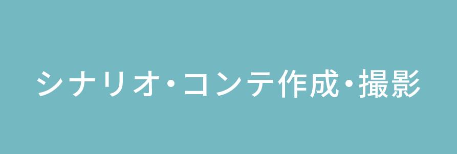 シナリオ・コンテ作成・撮影